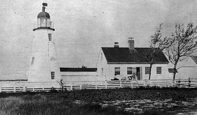 Ned's Point Light c. 1859 (U.S. Coast Guard)